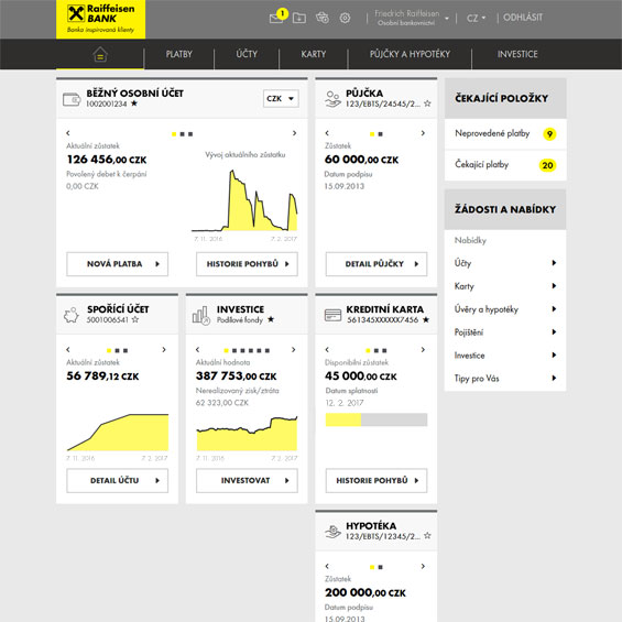 Main page/Dashboard